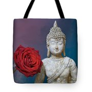 Buddha And Rose Tote Bag