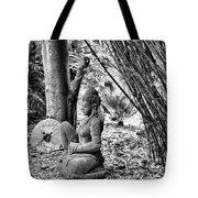 Buddha Black White Liberia Parish  Tote Bag