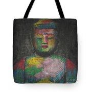 Buddha Encaustic Painting Tote Bag