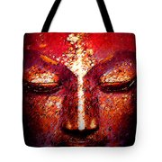 Buddha  Face Tote Bag