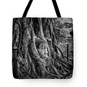 Buddha Head Ayutthaya Tote Bag
