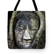 Buddha Head In Banyan Tree Tote Bag