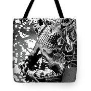 Buddha In Black And White Tote Bag