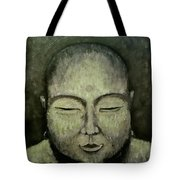 Buddha In Green Tote Bag
