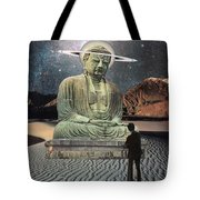 Buddha In Saturn Tote Bag