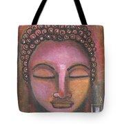 Buddha In Shades Of Purple Tote Bag by Prerna Poojara