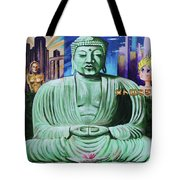 Buddha In The Metropolis Tote Bag