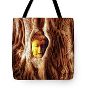 Buddha Of The Banyan Tree Tote Bag