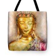 Buddha Peace Love And Light Tote Bag