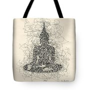 Buddha Pen And Ink Drawing Tote Bag