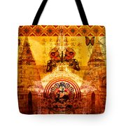 Buddha With Butterflies Tote Bag