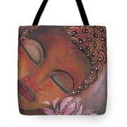 Buddha With Pink Lotus Tote Bag by Prerna Poojara