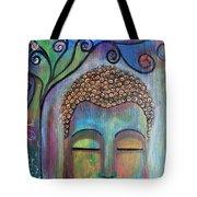 Buddha With Tree Of Life Tote Bag