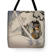 Buddhist Cleric Nichiren In Exile And Homage To Yoshitoshi Tote Bag