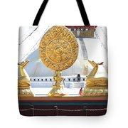 Buddhist Dharma Wheel Tote Bag