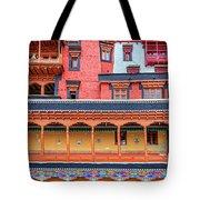 Buddhist Monastery Building Tote Bag