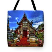 Buddhist Temples In Chiang Mai Tote Bag