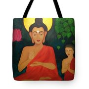Budha Blessing Tote Bag
