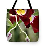 Buds And Blooms Orchid Tote Bag