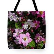 Buds And Petals- Pink Roses- Rose Bush- Floral Art Tote Bag