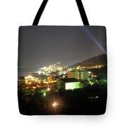 Budva At Night, Montenegro Tote Bag