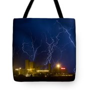Budweiser  Brewery Storm Tote Bag