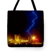 Budweiser Lightning Strike Tote Bag by James BO  Insogna