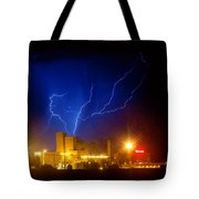 Budweiser Powered By Lightning Tote Bag