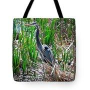 Bue Heron Tote Bag