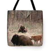 Buffalo And Calf Tote Bag