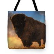 Buffalo At Dawn Tote Bag
