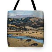 Buffalo By A Stream Tote Bag