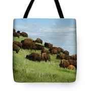 Buffalo Herd Tote Bag