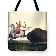 Buffalo Hunt, 1832 Tote Bag