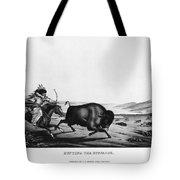 Buffalo Hunt, 1837 Tote Bag