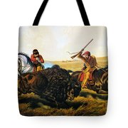 Buffalo Hunt, 1862 Tote Bag