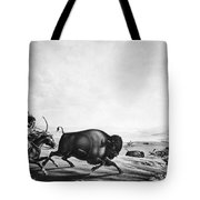 Buffalo Hunt, C1830 Tote Bag