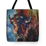 Buffalo In Blue Tote Bag