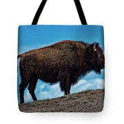 Buffalo In Profile Tote Bag