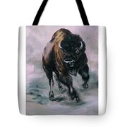 Buffalo Stampede Tote Bag