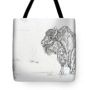 Buffalo Mom And Calves Tote Bag