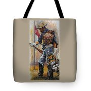 Buffalo Soldier Outfitted Tote Bag by Harvie Brown