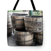 Buffalo Trace Barrels Tote Bag