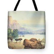 Buffalo Watering Tote Bag