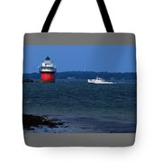 Bug Light And Lobster Boat Tote Bag