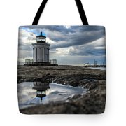 Bug Light Clouds And Reflection Tote Bag