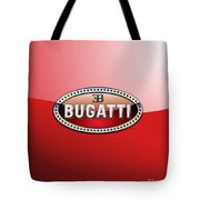 Bugatti - 3 D Badge On Red Tote Bag