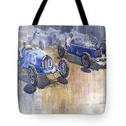 Bugatti 51 Alfa Romeo 8c 1933 Monaco Gp Tote Bag