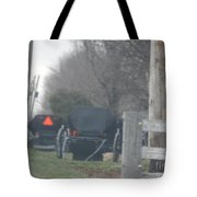 Buggies Parked At The Edge Of The Road Tote Bag
