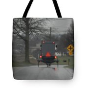 Buggy Approaching A Curve In The Road Tote Bag
